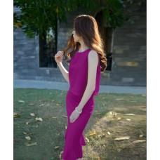 Sét áo váy cá cát hàn - D18037