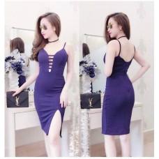 Đầm ôm body xẻ đùi xinh xắn - 1036