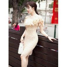 Đầm Ren Cổ Rộng Sang Trọng - 2011
