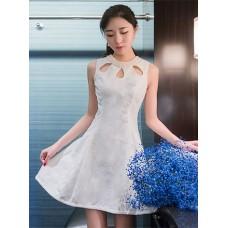 Đầm Ren Ngọc Trai cổ giọt sương - 2054