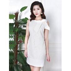 Đầm Ren Cổ Thắt Nơ Tay Phá Cách - 2070