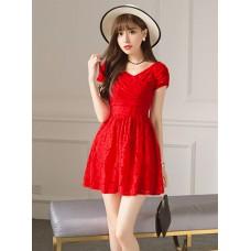 Đầm Ren Cổ Chéo Xinh Xắn - 2085