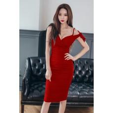Đầm Cổ Chéo Vai Thắt Nơ - 2093