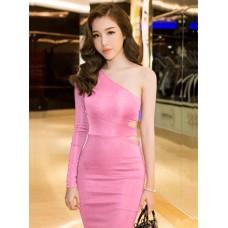 Đầm Cổ Xéo Tay Dài - 2101