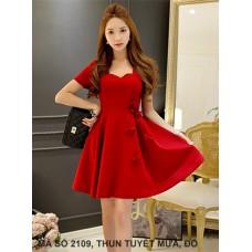 Đầm Xèo Đính 5 Hoa Hồng-2109