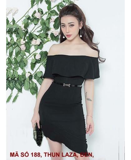 Đầm Cổ Rộng Lai Xéo - 188