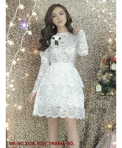 Đầm Ren Tay Dài - 2139