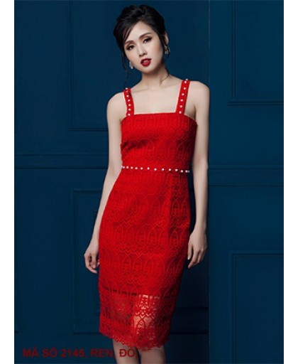 Đầm Ren 2 Dây - 2145