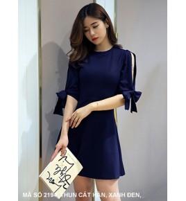 Đầm Tay Lở Cột Nơ Tay  - 2194