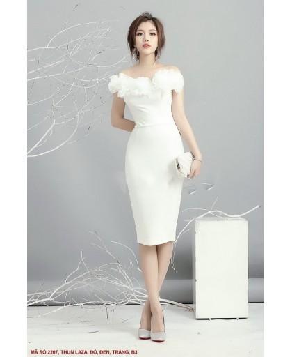 Đầm Ôm Cổ Hoa Hồng Lớn - 2207