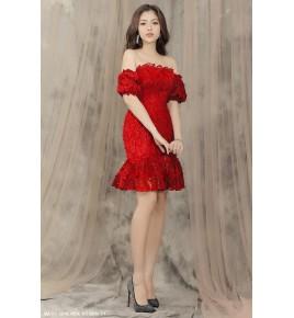 Đầm Ren Lông Thiên Nga -2219