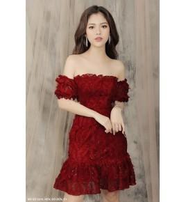 Đầm Ren Lông Thiên Nga - 2219