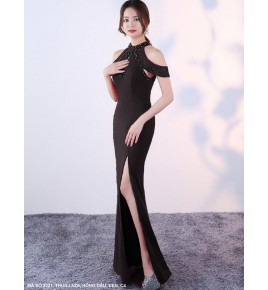 Đầm Dạ Hội Đính Hoạt Xoàn Cổ Giọt Nước -2221