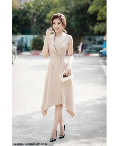 Đầm Giả Vest Nữ Lai Nhọn - 2234
