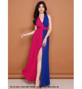 Đầm Dạ Hội 2 Màu Sang Trọng -2258
