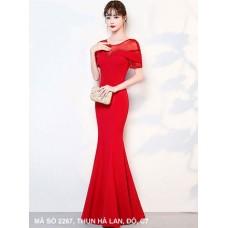 ĐẦM DẠ HỘI PHỐI TAY REN SANG TRỌNG - 2267