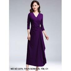 Đầm Dạ Hội Tay Dài Cổ Tim