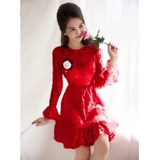Đầm Ren Tay Dài  - 2043