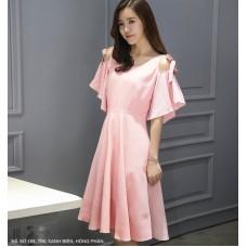 Đầm Xòe Cột Nơ Vai -165