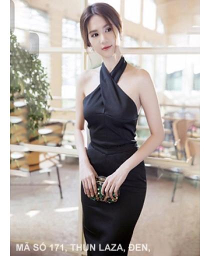 Đầm Ngọc Trinh Yếm Cột Nơ Cổ - 171