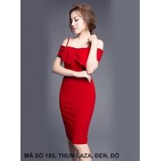 Đầm Ôm Dây Nơ Trước Ngực-180