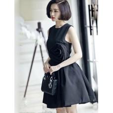 Đầm Xòe Tâm Tít Đính Hoa Hồng Sang Trọng -  54