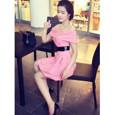 Đầm Cổ Ngang Váy Quả Bí - 68